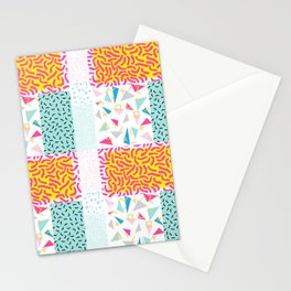 90's Pattern Funky Colors Stationery Cards