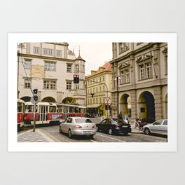 Prague Tram Station II. Art Print