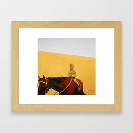 Boy on Horse Framed Art Print
