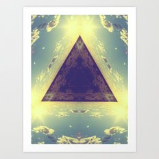 Triangles in the sky Art Print