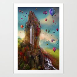 The Festival of Hin Chang Tor Art Print