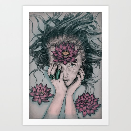 Liquid Flower Art Print