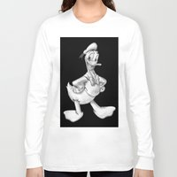 donald duck Long Sleeve T-shirts featuring Donald Duck by Dennis Rios