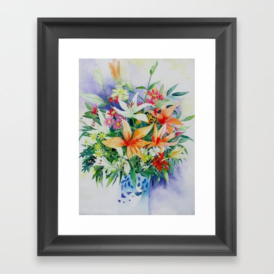 Birthday bouquet Framed Art Print