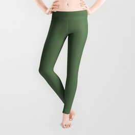 Solid Light Hazel Green Color Leggings