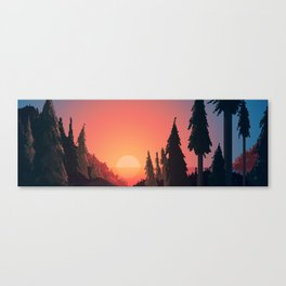 Canyon Coast Canvas Print