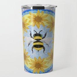 Honey Bee Mandala Travel Mug