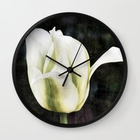 tulip Wall Clocks featuring Tulip by Christine baessler