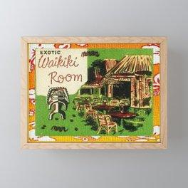 Tiki Art Exotic Waikiki Room Framed Mini Art Print