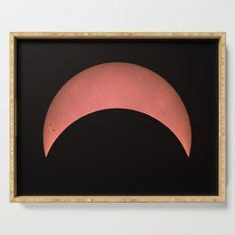 Partial Solar Eclipse Serving Tray