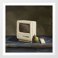 computer Art Prints featuring Pear Computer by Uri Tuchman