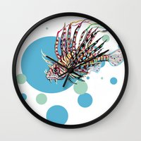 venom Wall Clocks featuring Venom by Hanna Lemoine