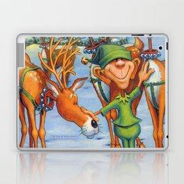 Elf Karl and the Reindeer Laptop & iPad Skin