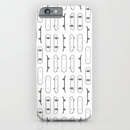 Skateboard Black Lines iPhone Case
