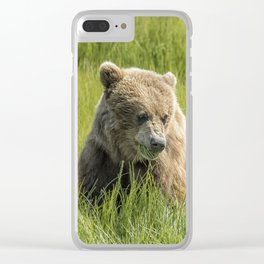 Filling Up on Sedge Grass Clear iPhone Case