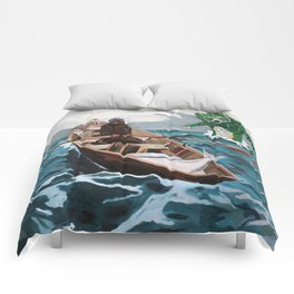 """Winslow Homer's """"Storm Warning"""" Revisted Comforters"""