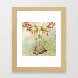 Christmas vintage bell Framed Art Print
