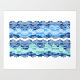 waves 2 Art Print
