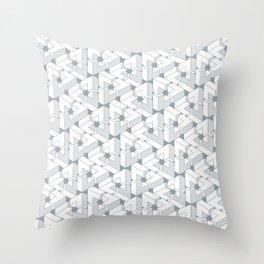 Triangle Optical Illusion Gray Lines Medium Throw Pillow