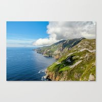 league Canvas Prints featuring Slieve League  by DGPhoto