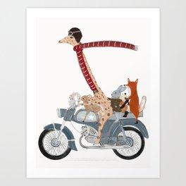 little biker buddies Art Print