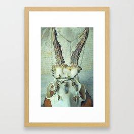 Quartz and Skull Framed Art Print