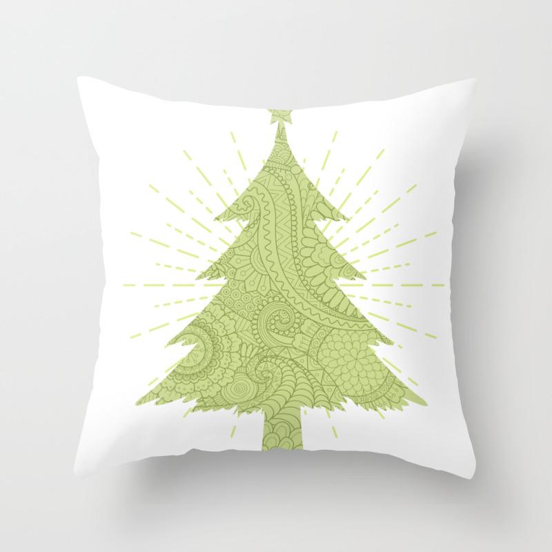 Christmas Tree Mandala Yoga Christmas Gift Throw Pillow By Mrniceguy83 Society6