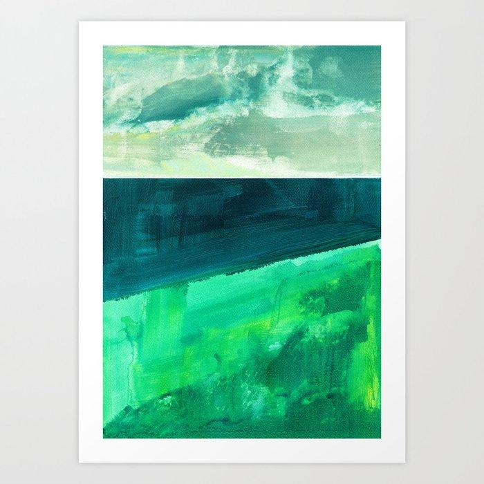 Clouds and sea Art Print