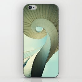 Spiral staircase in pastel tones iPhone Skin
