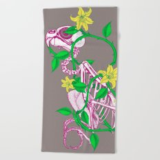 Deathvslife4 Beach Towel