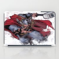 thor iPad Cases featuring Thor by Isaak_Rodriguez