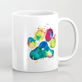 Multi-Color Paw Coffee Mug