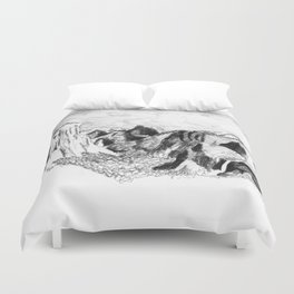 Yosemite Valley from Inspiration Point Duvet Cover