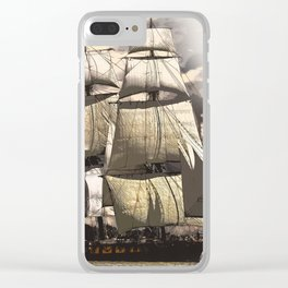 sailing ship vintage Clear iPhone Case
