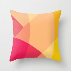 Pink Mountain Throw Pillow