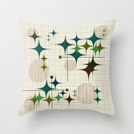 Starbursts and Globes 1 Throw Pillow
