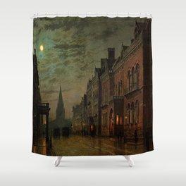 Park Row, Leeds, England by John Atkinson Grimshaw Shower Curtain