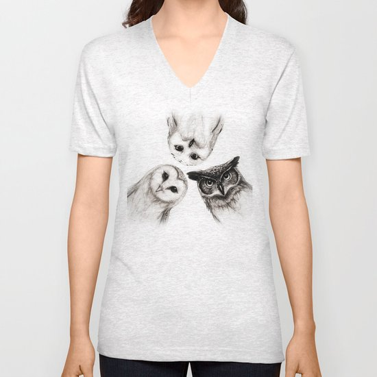 The Owl's 3 Unisex V-Neck