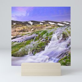 River San Juan. Waterfall At Sunset Mini Art Print