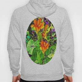 Nasturtiums Garden Abstract Art Hoody