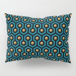 Blue & Gold horror hotel carpet pattern Pillow Sham