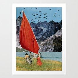 A Late Summer Sailing Art Print
