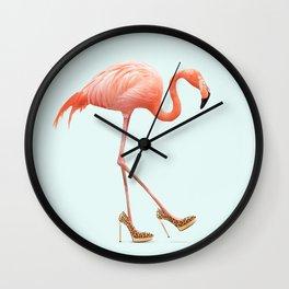 FANCY FLAMINGO Wall Clock