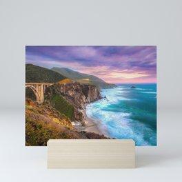 Big Sur Bixby Bridge Adventure Mini Art Print