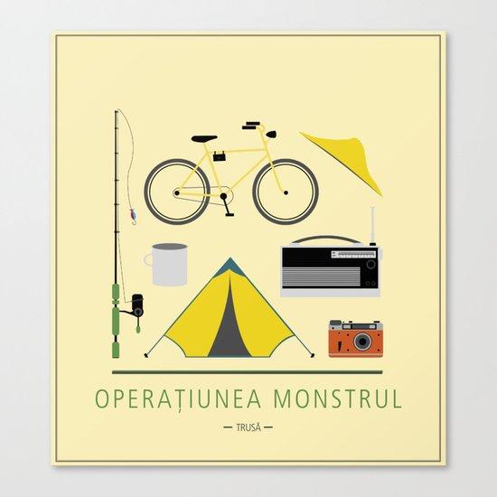 """ROMANIAN MOVIE """"OPERATIUNEA MONSTRUL"""" Canvas Print"""