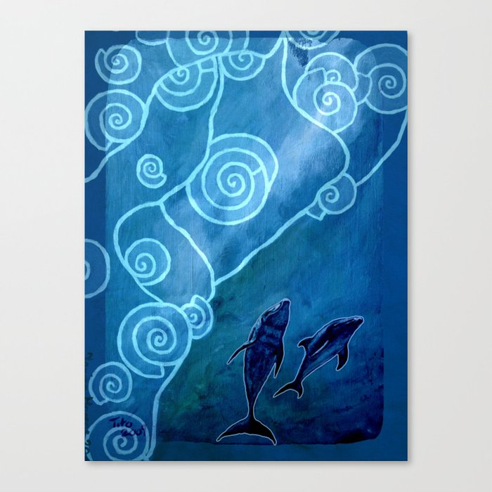 MELUSINA SEA DOLPHINS Canvas Print