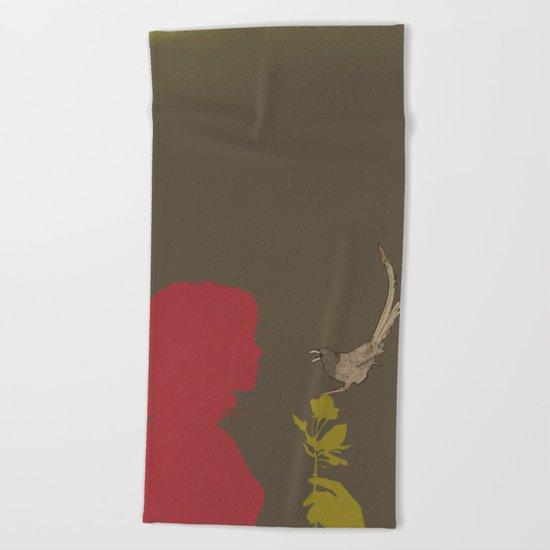 Toma Un Flor Beach Towel