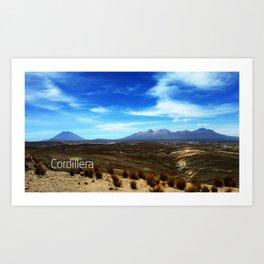 Cordillera Peru Art Print