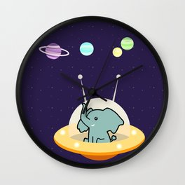 Astronaut elephant: Galaxy mission Wall Clock