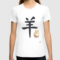 ram T-shirts featuring Ram by Mary Lenz Art